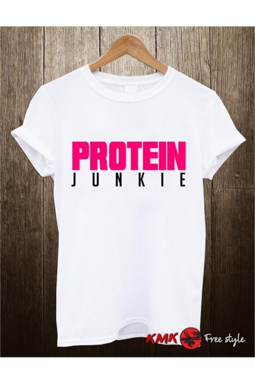 Protein Junkie Printed T shirt | Sport Tanktop | Fitness Tee | Long and Short Shirt